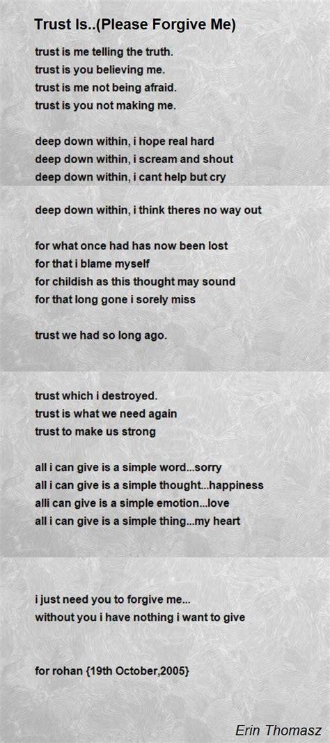 Love please forgive poems my me I Am