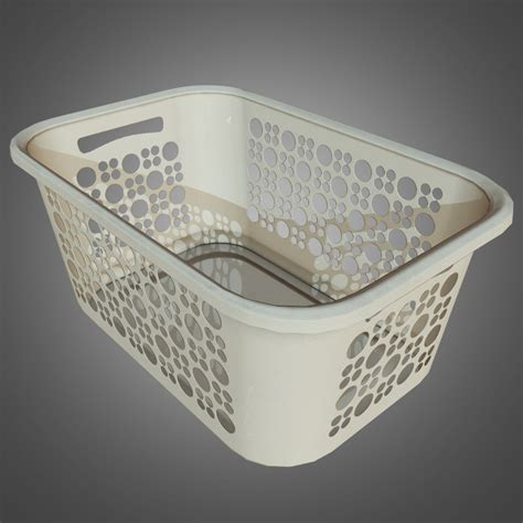 laundry basket pbr  obj