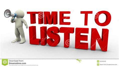 Time To Listen Stock Illustration. Illustration