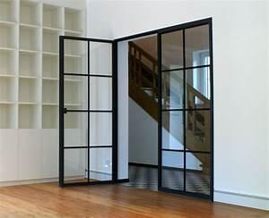 Wohnzimmertür Mit Glas : schlanke stahl glas t r windows doors design inspiration in 2019 innent ren mit glas ~ Watch28wear.com Haus und Dekorationen