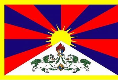 Tibet Flag Vlajky Tibetu Samolepka Flags Rinpoche