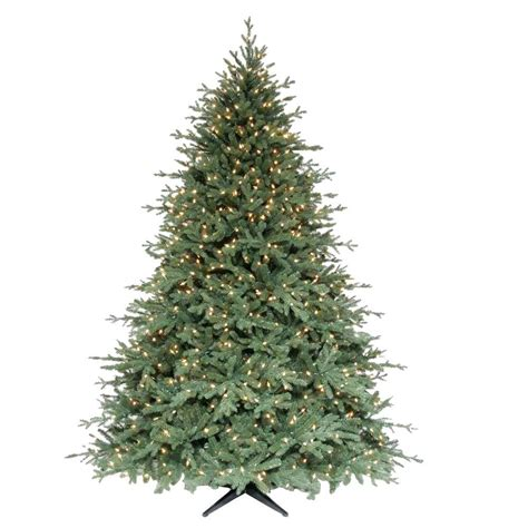 martha stewart living 7 5 ft royal spruce quick set artificial christmas tree with 1100 clear