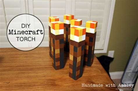 diy minecraft torch tutorial diys search  tutorials