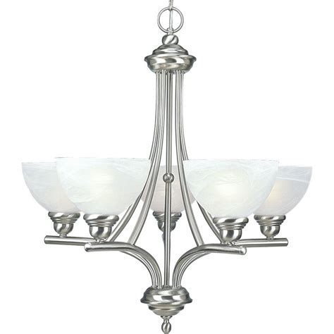Chandeliers Lighting Collections by Progress Lighting Glendale Collection 5 Light Brushed