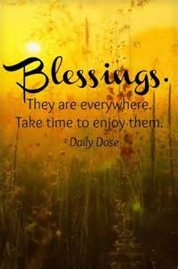 Enjoy Your Blessings