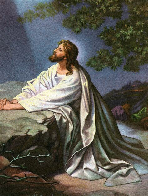 jesus in the garden of gethsemane in the garden of gethsemane painting by heinrich