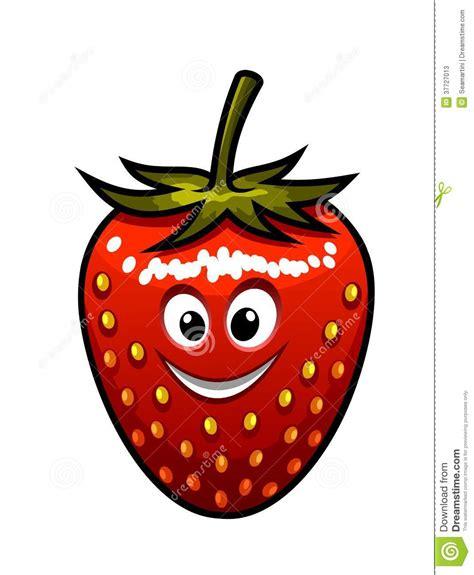 smiling strawberry   green stalk stock  image