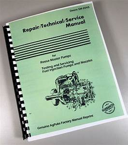 Service Manual For John Deere Db Jdb Dc Roosa Master Fuel