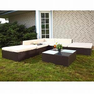 Polyrattan Sitzgruppe Braun : 16 tlg polyrattan sitzgruppe lounge sessel sofa real ~ Watch28wear.com Haus und Dekorationen