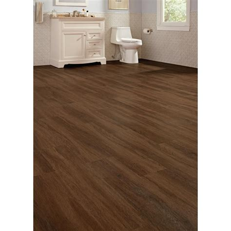 vinyl plank flooring lifeproof lifeproof shadow hickory 7 1 in x 47 6 in luxury vinyl plank flooring 18 73 sq ft case
