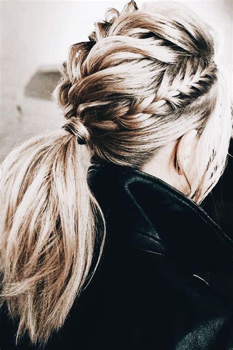 Blonde Pony Tail Braids In 2019 Hair Styles Hair