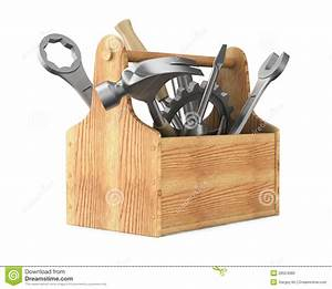 Wooden Toolbox With Tools Royalty Free Stock Photo - Image