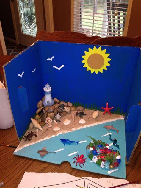 ocean  coast diorama    kaitlyns school