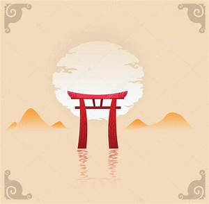 Vector illustration of abstract japan background — Stock ...