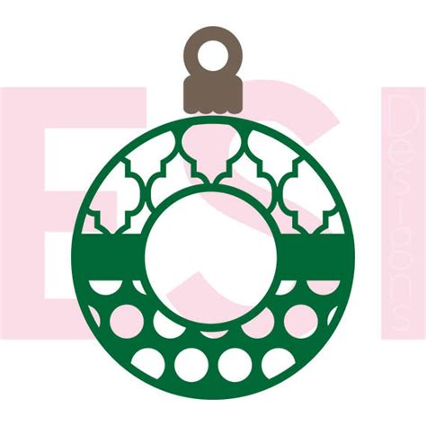Dxf file for silhouette users.you can open this with the free software version of silhouette. Christmas ornament svg monogram frame SVG DXF and EPSfor