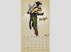 DC Comics Bombshells 2015 Wall Calendar