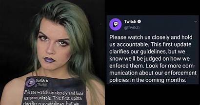 Streamer Twitch Claims Suspended Rules Break She