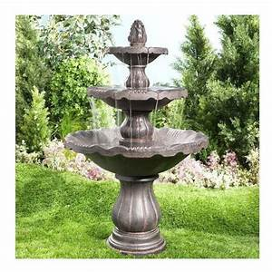 Infinity sienna 3 tier outdoor fountain lowe39s canada for Garden fountains lowes