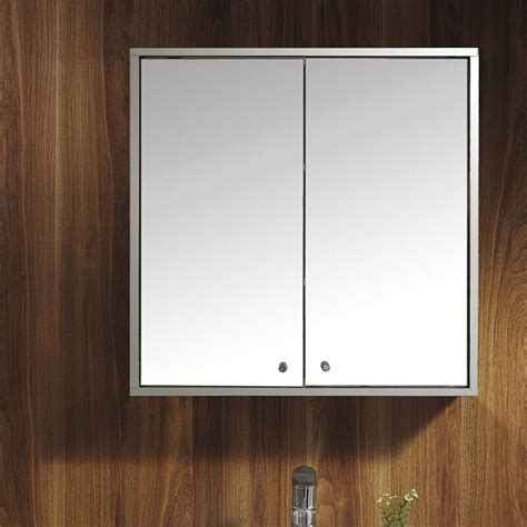 Bathroom Cupboard With Mirror by Wall Mirror Storage Cupboard Door Stainless Steel