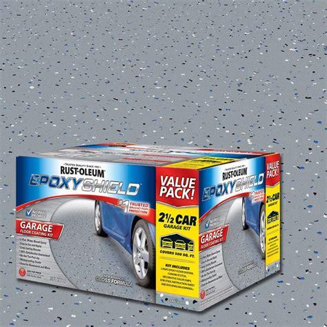rust oleum epoxyshield  gal gray garage floor epoxy
