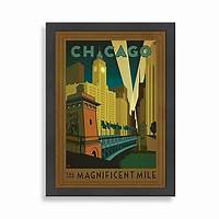 magnificent artistic wall art Americanflat Chicago Magnificent Mile Framed Wall Art ...