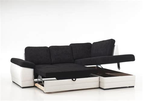 photos canapé d 39 angle convertible noir et blanc