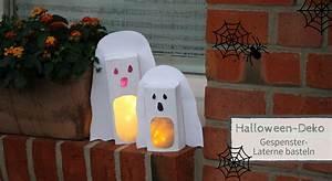 Halloween Deko Aus Amerika : halloween deko basteln gespenster laterne aus leerem tetra pak lavendelblog ~ Markanthonyermac.com Haus und Dekorationen