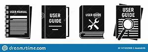 User Guide Instruction Icons Set  Simple Style Stock