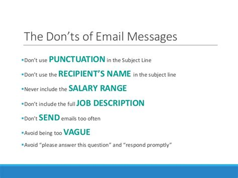 tips on emailing a resume