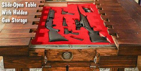 Fine Furniture for Firearms ? Sliding Top Table Vault « Daily Bulletin