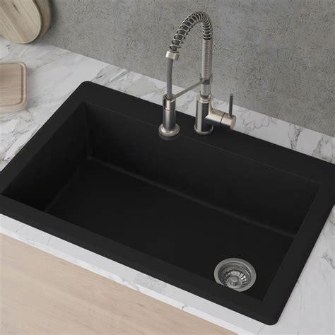 kraus kgdblack   dual mount single bowl granite