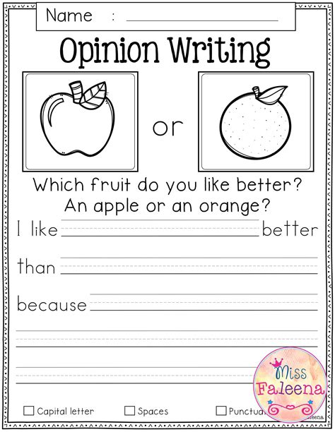 writing prompt worksheets  st grade