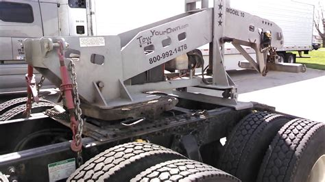 tow truck hitch for 5th wheel bobtail 18 wheeler tractor