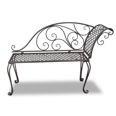 chaise metal vintage vidaxl co uk vidaxl metal garden chaise lounge antique