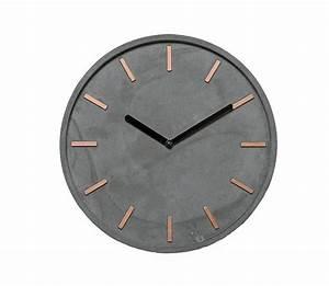 Moderne Wanduhren Wohnzimmer : hochwertige beton uhr wanduhr in grau kupfer ~ A.2002-acura-tl-radio.info Haus und Dekorationen