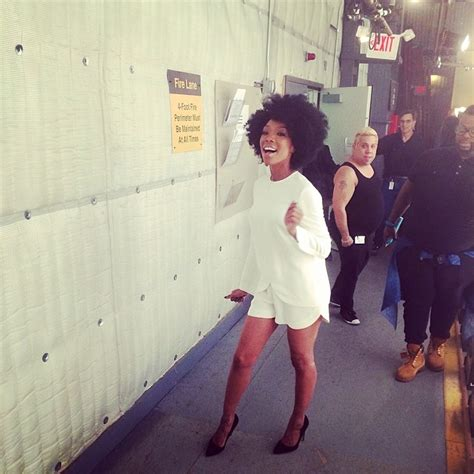 brandy shows   fro heat  hair