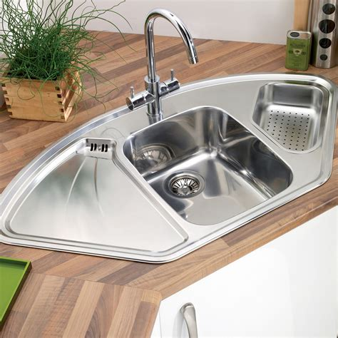 stainless steel corner kitchen sink astracast lausanne deluxe 1 5 bowl corner kitchen sink 8232