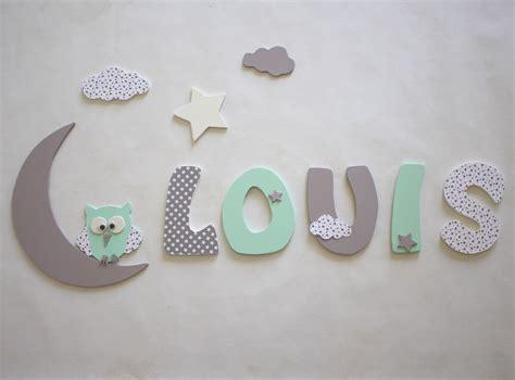 décoration prénom lettres en bois lettres taille 9 cm