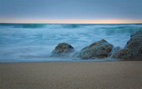 sky sea rock sand desktop background wallpaper hope
