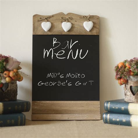 kitchen decorative ideas blackboard noticeboard sign by the wedding of my dreams