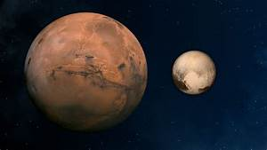 Images - Mars and Pluto, Compared
