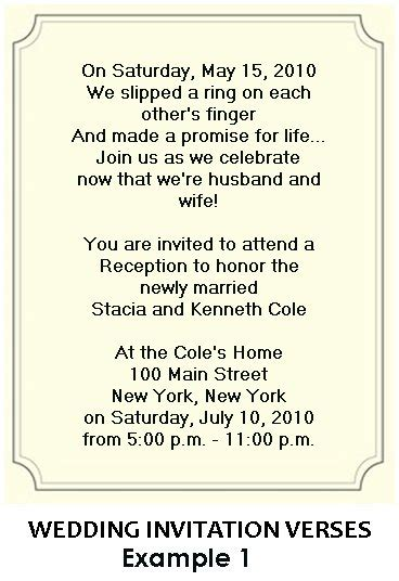wording  wedding reception invitations