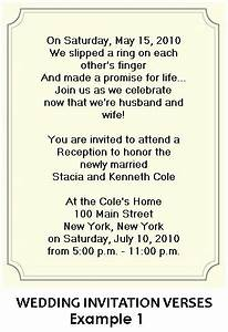 wording for wedding reception invitations With wedding invitation wording civil ceremony reception same venue