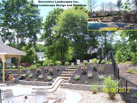 backyard slope landscaping landscaping landscaping ideas for sloped edges