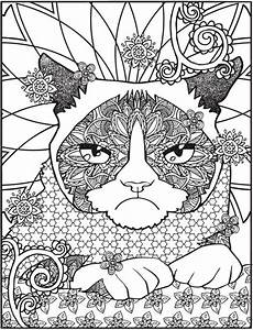 Freebie Grumpy Cat Coloring Page Stamping