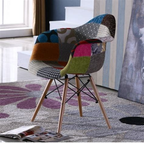 patchwork eames style tub chair midcentury armchairs
