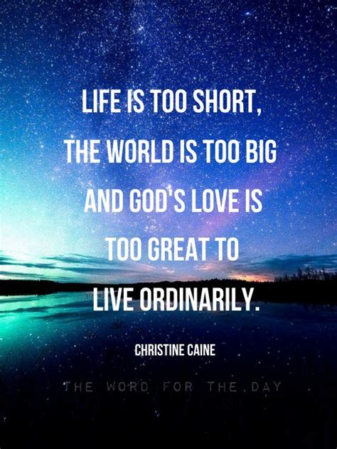 But be of good cheer; starry night, the word for the day, christine caine quotes ...