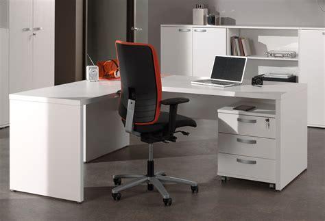 bureau de travail blanc bureau d 39 angle contemporain blanc octavia ii soldes