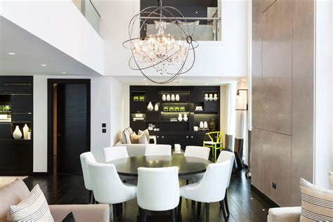 Modern Dining Room Sets With China Cabinet by Stylish Chandelier Dark Wood Dining Table Floor