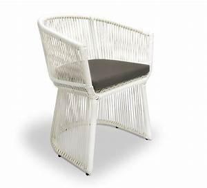 Fauteuil Fil Plastique : fauteuil de jardin fil blanc coussin taupe bahia 149 ~ Edinachiropracticcenter.com Idées de Décoration